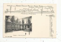 Cp,76, ROUTE NATIONALE N° 182 ,Vernon-Gaillon-Pont De L'Arche-Rouen, ROUEN , Palais De Justice, Vierge - Rouen
