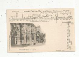 Cp, 27 , ROUTE NATIONALE N° 182 ,Vernon-Gaillon-Pont De L'Arche-Rouen, PONT DE L'ARCHE , L'église - Pont-de-l'Arche