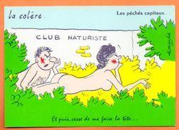 LES PECHES CAPITAUX   LE COLERE   1971  Alexande Carte Vierge N° 48613 - Humour