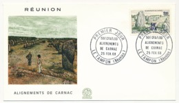 REUNION - Enveloppe FDC - Alignements De Carnac 1968 - Réunion (1852-1975)