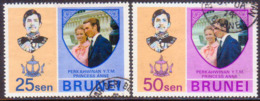BRUNEI 1973 SG 214-15 Compl.set Used Royal Wedding - Brunei (...-1984)