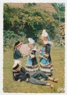 Folklore Bretagne Région De Pont-Aven Riec Sur Belon Nevez N°12 Un Brin De Causerie En Costumes De Basse Cornouaille - Névez