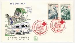 REUNION - Enveloppe FDC - Croix Rouge 1966 - Saint Benoit - Réunion (1852-1975)