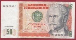 Pérou 50 Intis Du 03/04/1985  Dans  L 'état (88) - Peru