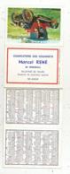 Calendrier 8 Pages ,petit Format ,1969, Charcuterie Des Gourmets ,M. RENE , MIREBEAU ,86, Vienne,signalistion Routière - Calendriers