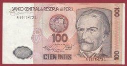 Pérou 100 Intis Du 06/03/1989  Dans  L 'état (89) - Peru