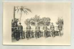 REPARTO MOTORIZZATO MILITARI ITALIANI MOTO GUZZI, CAMPAGNA D'AFRICA - FOTO SU CARTA AGFA - NV FP - Ausrüstung