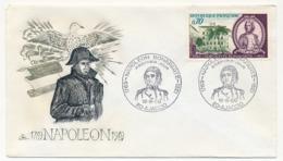 REUNION - Enveloppe FDC - Napoléon Bonaparte 1969 - Ajaccio - 1960-1969