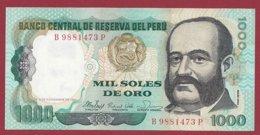Pérou 1000 Soles De Oro  Du 05/11/1991  UNC (90) - Peru