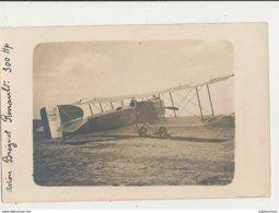 CARTE PHOTO  AVION BREGUET RENAULT 300 HP CPA BON ETAT - 1914-1918: 1ère Guerre