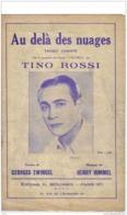 Ancienne Partition Tino Rossi   Au Delà Des Nuages    Corse - Musique & Instruments