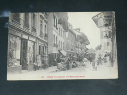 SUISSE / BERNE / THOUNE  1910 /  VUE   RUE ANIMEE & COMMERCES     ..  EDITEUR - BE Berne