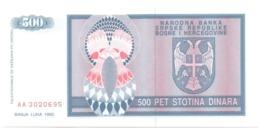 Bosnia Erzegovina 500 Dinara 1992 - Bosnia Erzegovina