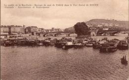CPA - Le Conflit De La Batellerie - Barrage Du Quai De Paris Dans Le Port Fluvial De Rouen (76)(Seine Maritime) - Rouen