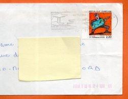 MAURY N° 2514   LA COMMUNICATION   ( Pliure )      Lettre Entière 110x220 N° KK 969 - Marcophilie (Lettres)