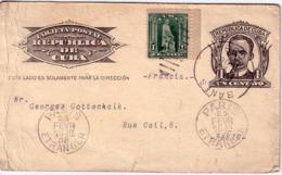 CUBA - ENTIER POSTAL AVEC COMPLEMENT D'AFFRANCHISSEMENT POUR LA FRANCE - PARIS ETRANGER - EN 1908. - Briefe U. Dokumente