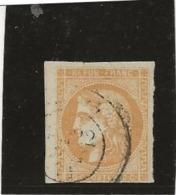EMISSION DE BORDEAUX N° 43 A OBLITERE - FILET DU BAS TOUCHE - COTE :90 € - 1870 Emisión De Bordeaux