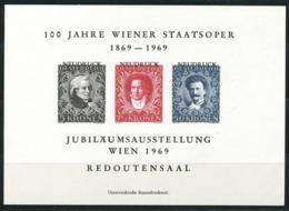 Österreich-  Gedenkblatt  100 Jahre Wiener Staatsoper - 1945-.... 2nd Republic