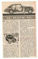 COUPURE De PRESSE 1955 - BERLINE De LUXE BRISTOL 501 - Cars