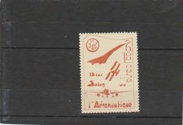Concorde - Vignette Avec Gomme - Toulouse 22 Juin 1974 10° Salon Aéronatique - Aviation