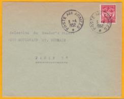 1952 - Enveloppe En Franchise Militaire Vers Paris - YT FM 12 - Marcophilie (Lettres)