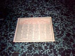 CALENDRIER  PETI FORMAT  A Entete Loterie Nationale  Le Trèfle Ptit Quinquin Fer A Cheval ET CREDIT DU  NORD  Année 1950 - Kalenders
