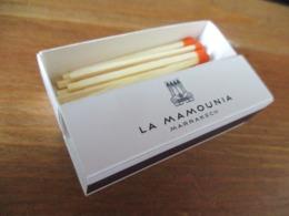 BOITE D ALLUMETTES GRAND HOTEL LA MAMOUNIA MARRAKECH MAROC - Boites D'allumettes
