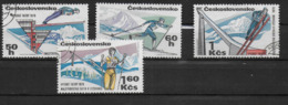 CECOSLOVACCHIA - 1970 - CAMPIONATI MONDIALI DI SCI SUI TATRA - 4 VALORI USATI ( YVERT 1762/1765 - MICHEL 1916/1919) - Sci