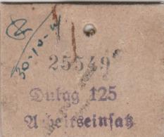 Piastrino Di Riconoscimento (cartoncino) - Dulag 125 - 1939-45