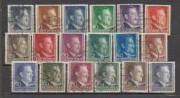 Allemagne ~ Pologne Gouvernement General  1941  N° 82 à 99 Oblitéré (18 Valeurs) - 1939-44: 2. WK