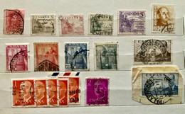 SPAGNA ESPANA 12 Francobolli Usati 1927 - 1948 : Cid , Posta Aerea .... - 1889-1931 Regno: Alfonso XIII