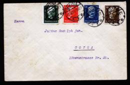 A6317) DR Brief Nothilfe 1927 Mi.403-406 Gotha 02.10.27 - Deutschland
