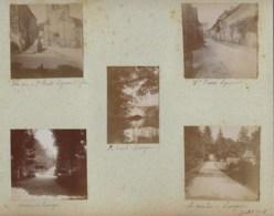 210919 - 10 PHOTOS 1901 - 36 GARGILESSE Rue Pont Ruisseau 87 ST PRIEST LIGOURE église Rue LAVERGNE Moulin Avenue - Francia