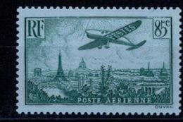 France Poste Aérienne 1936 - Avion Survolant Paris - YT N°8 - Neuf Avec Trace De Charnière TB - Airmail