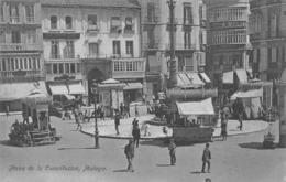MÁLAGA - PLAZA DE LA CONSTITUCIÓN  ~ AN OLD POSTCARD #96945 - Málaga