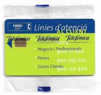 Spain - Telefónica - Linea D'atencio - P-399 - 08.1999, 2.500ex, NSB - España