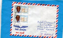 "MARCOPHILIE-Lettre- BURKINA FASO>France Cad + Flamme ""caisse D'épargne"" 1990-3-stamps-N°751  John  Luthuli - Burkina Faso (1984-...)"
