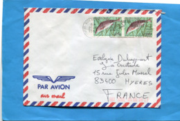 "MARCOPHILIE-Lettre- BURKINA FASO>France Cad + Flamme ""caisse D'épargne"" 1990-2-stamps-N°790poisson Mormyrus - Burkina Faso (1984-...)"