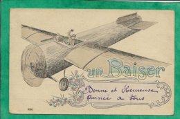 Un Baiser Du Haut D'un Avion (fabrication Française) 2scans Fusil Bombe Ou Boulet (ironie) - ....-1914: Précurseurs