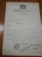 1898 ROMA - DISPENSA A IMPEDIMENTO MATRIMONIO MINISTERO DELLA GUERRA - MILITARIA - Decrees & Laws