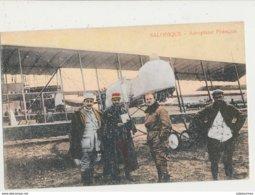 AVION AVIATEUR SALONIQUE AEROPLANE FRANCAIS CPA BON ETAT - ....-1914: Précurseurs