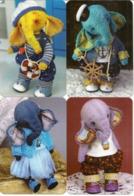 Set Of Calendars Russia - 2020 - 16 Pcs. - Toys - Elephant - Bears - Hare - Beautifully - Vintage. - Kalenders