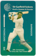 Barbados - Bartel (GPT) - Sir Garfield Sobers, 14CBDC, 1994, 4.677ex, Used - Barbades