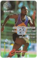 Barbados - Bartel (GPT) - Obadele Thompson, 125CBDB, 1997, 60.000ex, Used - Barbades