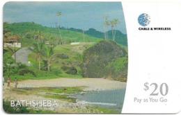 Barbados - C&W (Prepaid) - Bathsheba, 20Bds$, Used - Barbados