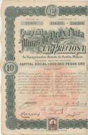 COMPAGNIE DE LA MINE DE OROY PLATA - LA PRECIOSA - MEXIQUE - ANNEE 1909 - Mines