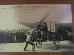 Léon MORANE Sur Monoplan Blériot - La Mise En Marche - ....-1914: Précurseurs