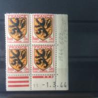 Timbres Neuf 1944 - N°602 - (Y&T) Coins Datés 1.3.1944 - Coté 2€ Flandre - France