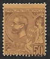 MONACO  1891-94 -  Y&T  18 - Prince Albert 1° - NEUF* - Cote 9e - Neufs