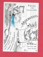 CPM 95 ARGENTEUIL.1er Bourse Aux Collections 16 Mai 1992..Illustrateur Jean Luc Perrigault. - Argenteuil